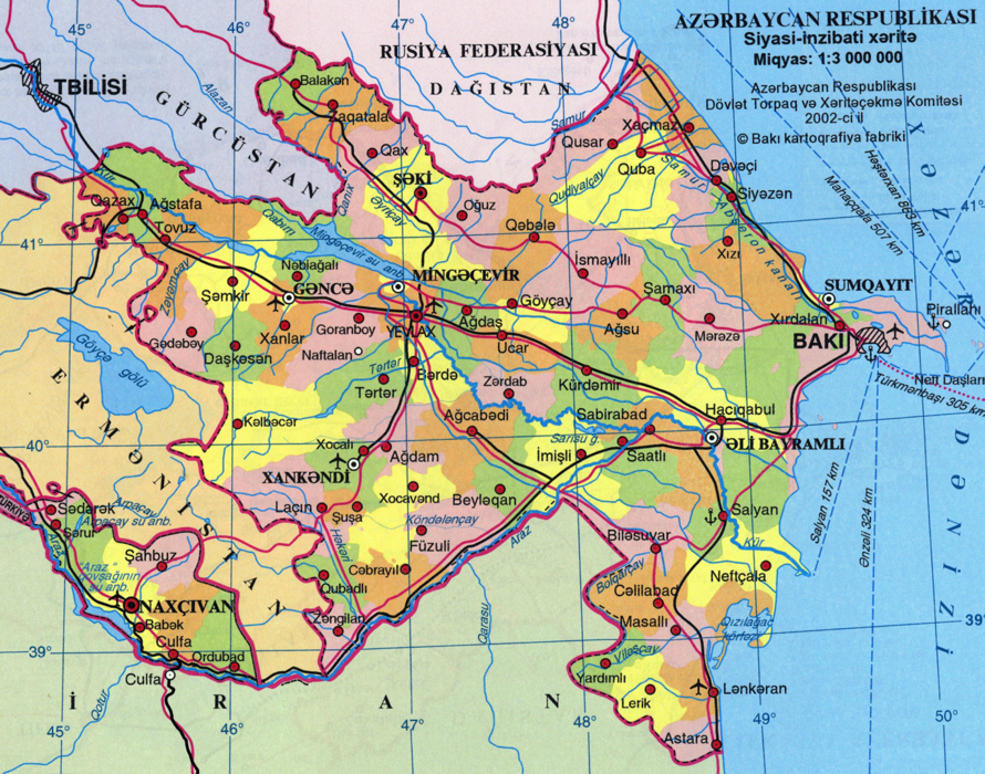 Maps :: Azerbaijan Democratic Republic.